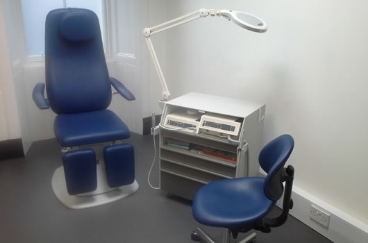 podiatry treatment room